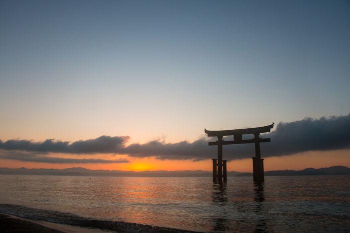 滋賀・高島市・白鬚神社(朝景・日の出)20170107-4