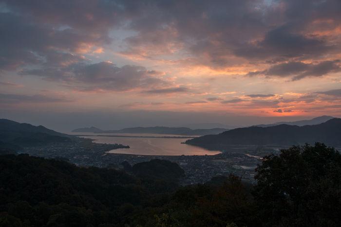 京都・与謝郡与謝野町・大内峠一字観公園(朝景・夜明け)20161112-7