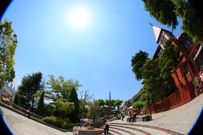 兵庫・中央区・【魚眼風景】北野異人館街20150427-6