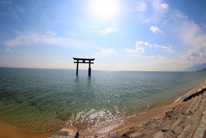 滋賀・高島市・【魚眼風景】白鬚神社20160219-4