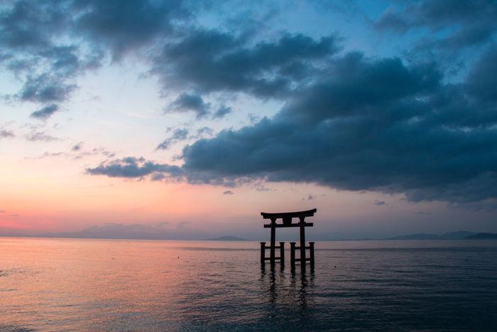 滋賀・高島市・白鬚神社(朝景・日の出)20170420-1
