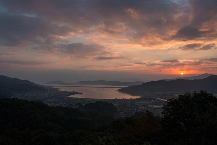 京都・与謝郡与謝野町・大内峠一字観公園(朝景・夜明け)20161112-8