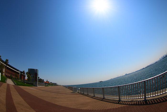 兵庫・中央区・【魚眼風景】ポーアイしおさい公園20150427-4