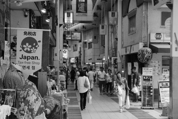 大阪・中央区・【モノクロさんぽ】千日前道具屋筋商店街20150623-2