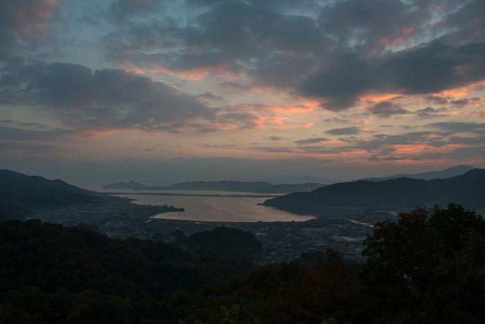 京都・与謝郡与謝野町・大内峠一字観公園(朝景・夜明け)20161112-6