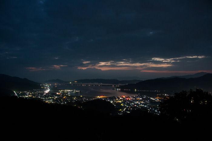 京都・与謝郡与謝野町・大内峠一字観公園(朝景・夜明け)20161112-1