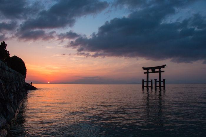 滋賀・高島市・白鬚神社(朝景・日の出)20170420-2