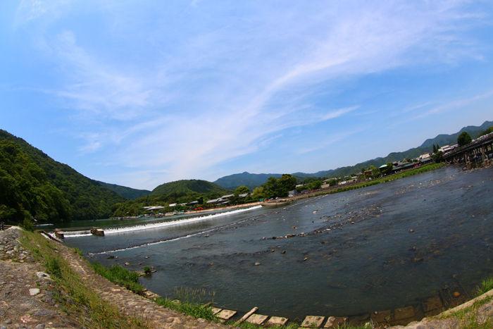 京都・右京区・【魚眼風景】渡月橋界隈20150527-3