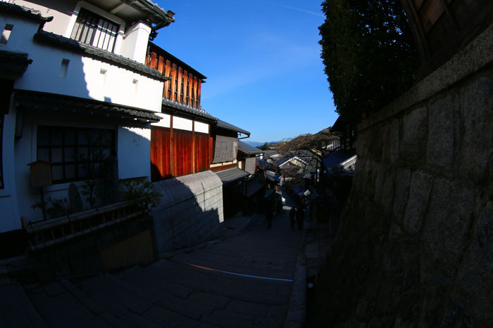 京都・東山区・【魚眼風景】八坂神社~産寧坂界隈20150221-1