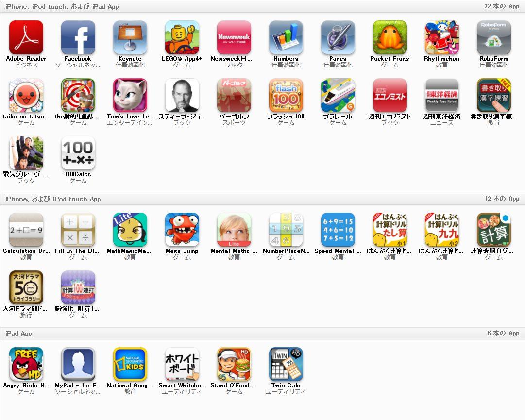 Ipadアプリ