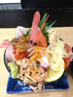 4ランチ:海鮮丼1,050円@寿司・あつ賀・渡辺通