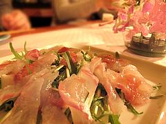 料理:鯛のカルパッチョ風サラダ@ひなまつり・女子会