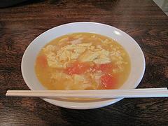 7ランチ:完熟トマトと玉子スープの刀削麺500円@チャイナダイニング劉(りゅう)・中華・薬院