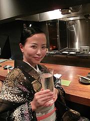 6鶏料理:喜楽長・日本酒・滋賀・生原酒@焼鳥・sumiyaki燈(炭焼きあかり)・丸太町・京都