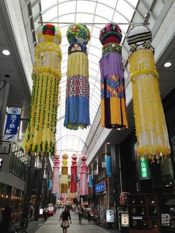 1川端商店街@花のれん