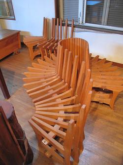 26蛇腹椅子@いわい家具・ウッドスタイルカフェ
