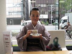 店内:窓からの風景@KBC九州朝日放送・喫茶ラテLatte