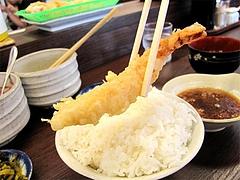 料理:普通のエビの天ぷら150円@だるまの天ぷら定食・吉塚本店