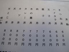 メニュー:丼@そば処・照月庵・福岡