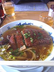 2ランチ:排骨麺(パーコーメン)550円@黄金の福ワンタンまくり・西長住店