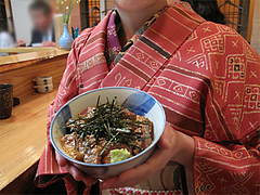 料理:ぶり丼持つ@旬美食彩たなごころ・渡辺通