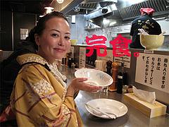 料理:らーめん完食。@らーめん大・福岡大橋店