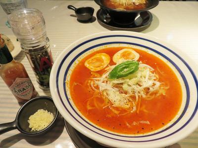8トマトラ600円+煮玉子100円