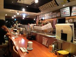 1店内:カウンター@すし磯貝天神イムズ店