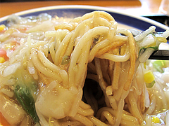 料理:太めん皿うどん麺@リンガーハット福岡大橋店