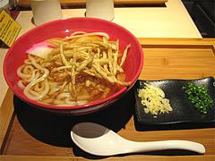料理:ごぼう天550円(ランチ大盛り無料)@うどん麦の穂・中州