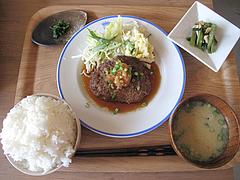 15ランチ:日替わり定食・ハンバーグ空撮@kitchen green(キッチングリーン)・別府