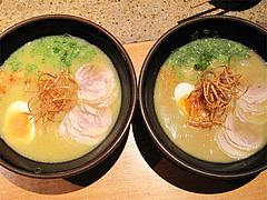 料理:白湯鶏拉麺のあっさりとこってり@たらふくまんま・春吉