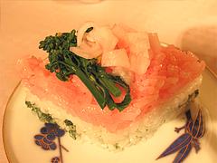 料理:ひし餅形の押し寿司@ひなまつり・女子会