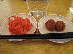 料理:紅しょうがと梅干@ラーメン来来亭・大橋店・福岡