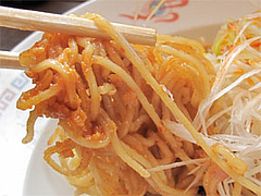料理:汁なし!ネギそばのアップ@博多金龍筑紫通り店