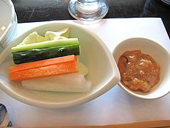 12ランチ:生野菜ともろドレ@天ぷら・あきよし・室見