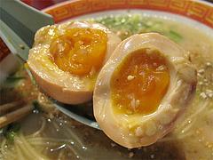 料理:ラーメン煮玉子@成金ラーメン・博多駅前