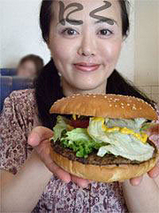 ハンバーガーの大きさ@SEA DINER(シーダイナー)