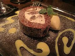 料理:ラフランスのキャラメルロールケーキ@Le grenier de Goh(Gohの屋根裏部屋)