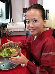 料理:節らーめん580円とアタシ@豚と節家