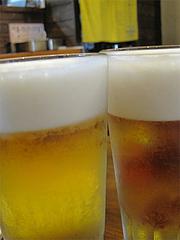6バーベキュー:生ビール@七輪居酒屋イソデチキン・舞鶴・天神