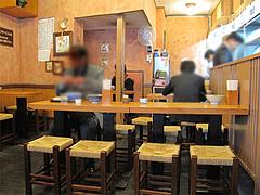 5店内:テーブル席@因幡うどん・渡辺通店