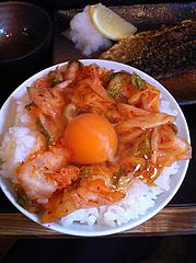3ランチ:キムチ卵かけごはん100円@日の出食堂・博多駅前