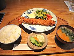 7ランチ:大海老フライ定食ライト980円@キッチン良い一日・長尾店