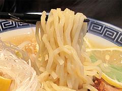 料理:塩レモンラーメンの太麺@中華そば行徳家・野間