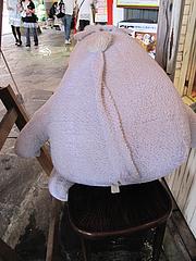 外観:ムーミンカフェのムーミン干し裏@キャナルシティ博多・福岡