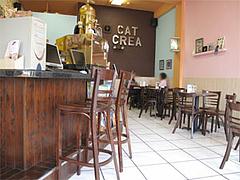 店内:カウンターとテーブル@インターネットカフェ『キャットクレア CAT CREA』・グアム