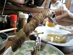 料理:アスパラ巻200円@焼鳥牛作・福岡市中央区小笹