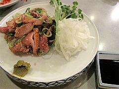 料理:地鶏たたき800円@長浜屋台やまちゃん福岡天神店