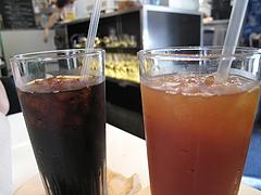 ランチ:アイスコーヒーとアイスティー@パロマグリル・天神